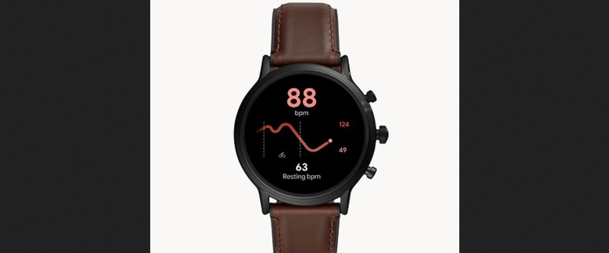 Fossil Gen 5 Smartwatch The Carlyle HR Smoke Stainless Steel